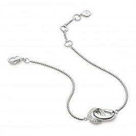 Bevel Cirque CZ Pave Link bracelet