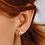 Thumbnail: Blossom Petal Bloom Small Stud Earrings