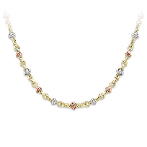 Three colour heavy gold necklace