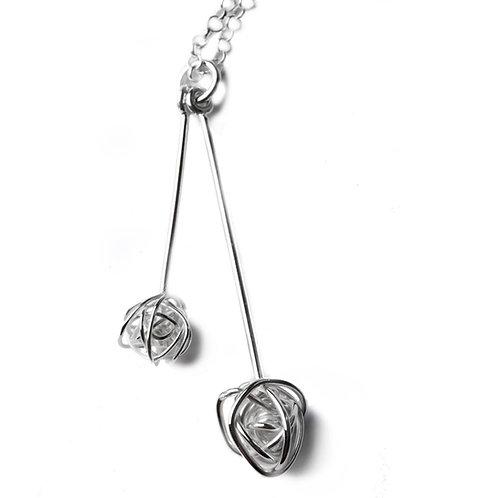 Double silver ball pendant