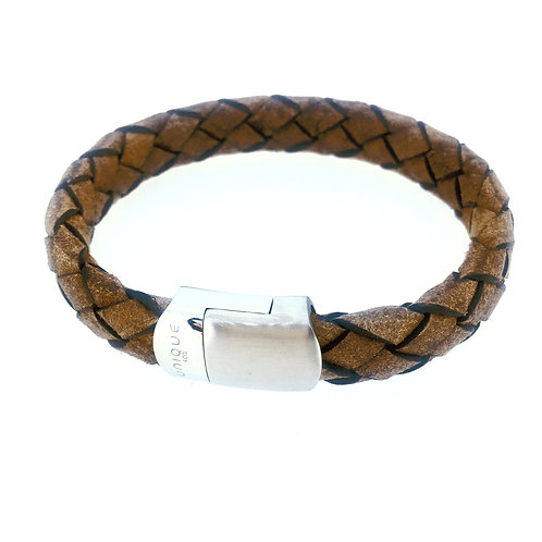Smokey Brown Leather bracelet with magnetic clasp