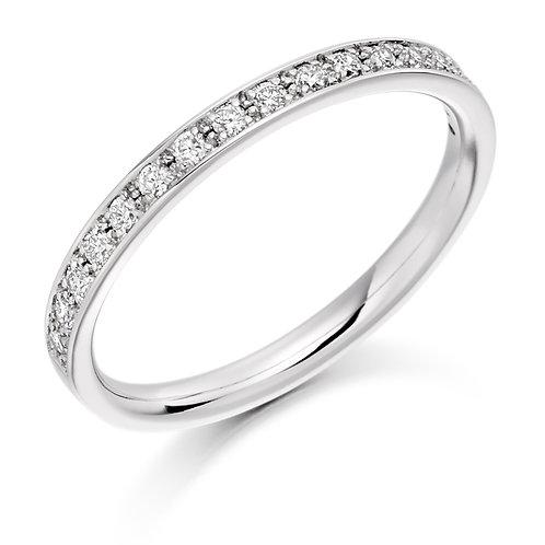 Vintage style Grain set narrow Diamond Eternity ring