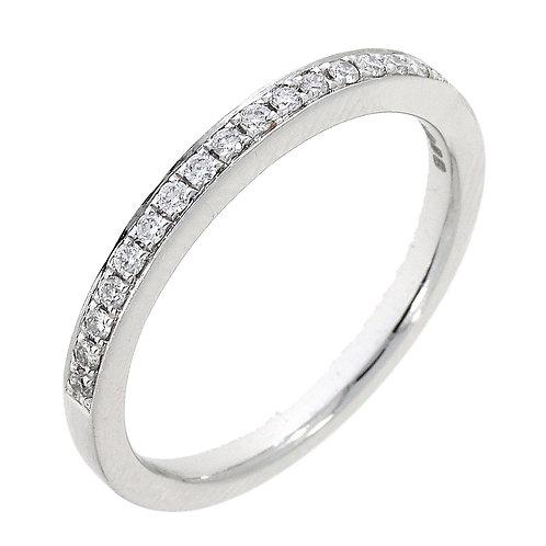 Diamond 17 stone platinum band