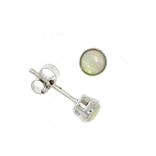 Opal and white gold stud earring