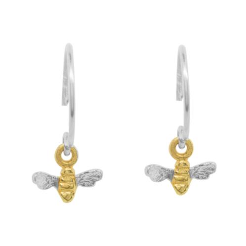 Bees Knees tiny bee hook earrings