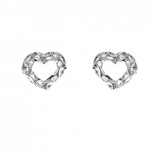 Amore Open Heart stud earrings