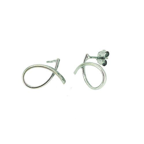 Loopy White Gold stud earrings