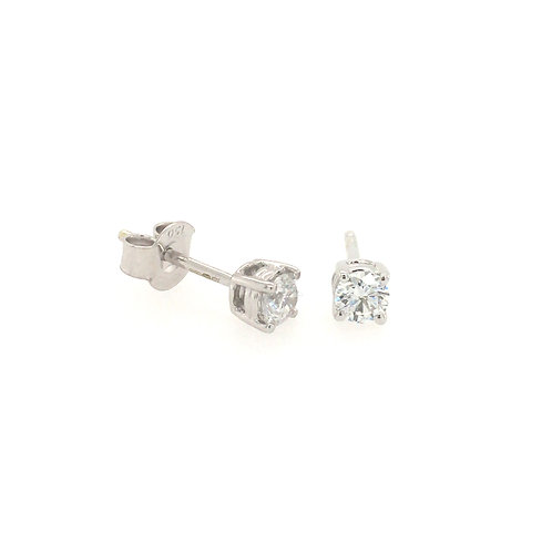 Diamond 0.4ct Solitaire (Lab grown) 18ct White Gold stud earrings