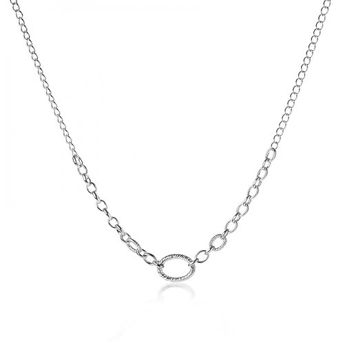 Ocean link silver necklace