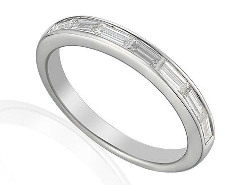 Channel set Diamond half eternity ring