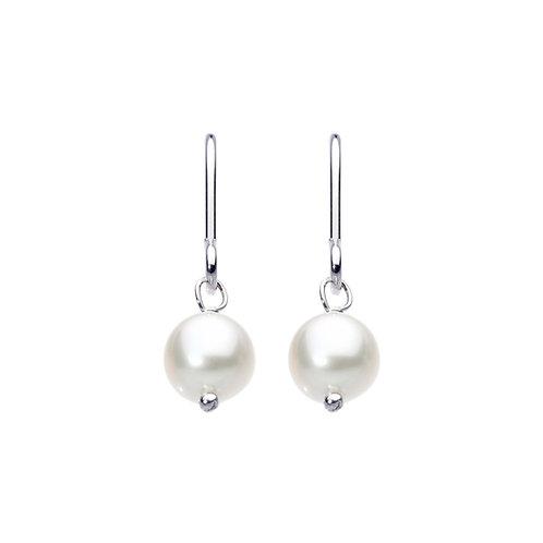Freshwater round Pearl drop earrings