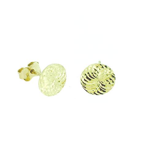 Gold Disc stud earrings