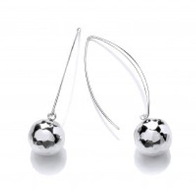 Long drop Bauble earrings