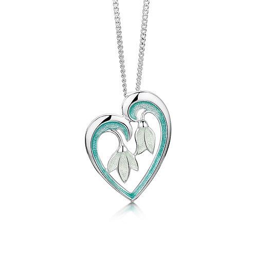 Snowdrop heart pendant