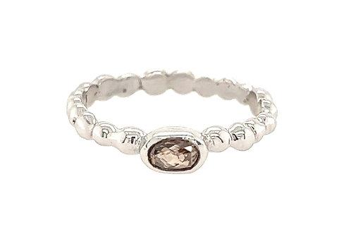 Sara Mink Diamond Beaded 18ct White Gold Ring