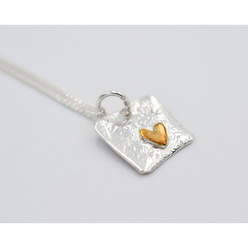 SallyB Heart simple pendant