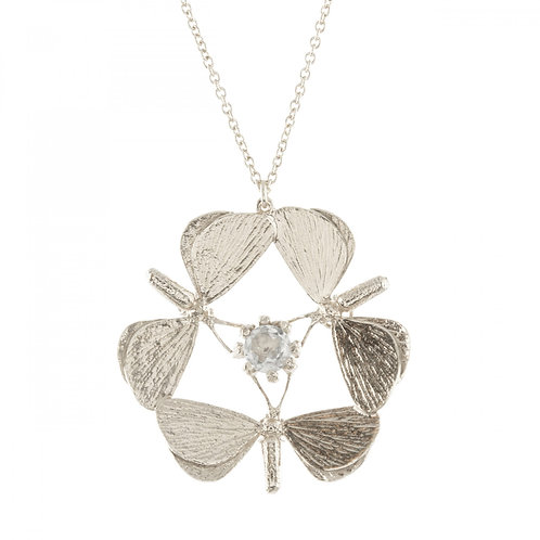 Moth Formation & Green Amethyst Necklace