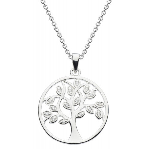 Tree of Life Sparkling Silver pendant on chain