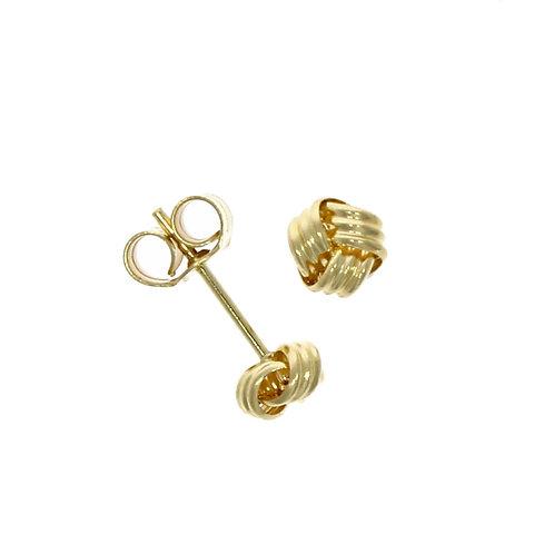 3 Row Ribbon stud earrings