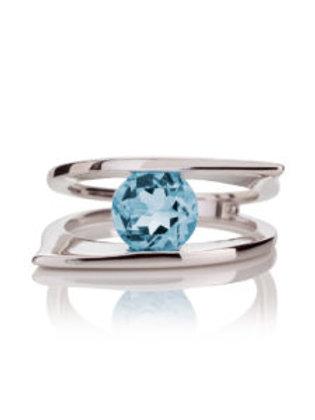Romance topaz silver ring