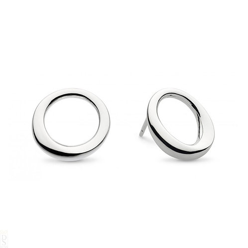 Bevel cirque large stud earrings