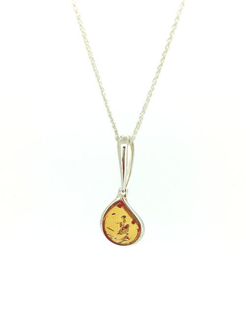 Baltic Amber Curved pendant