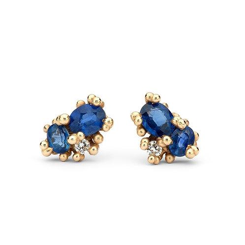 Sapphire granule studs