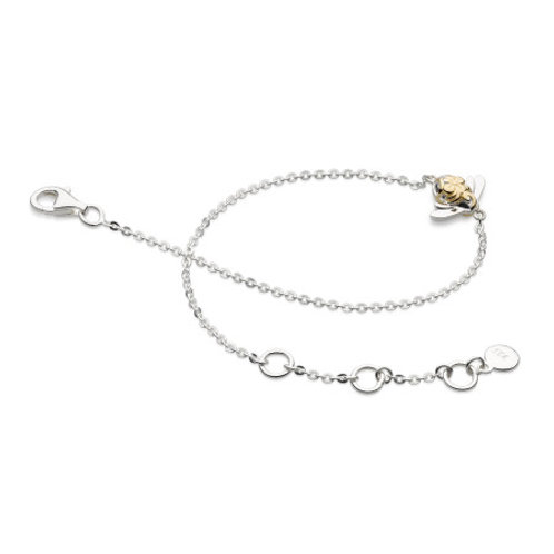 Blossom Bumblebee single silver and gold plate bracelet