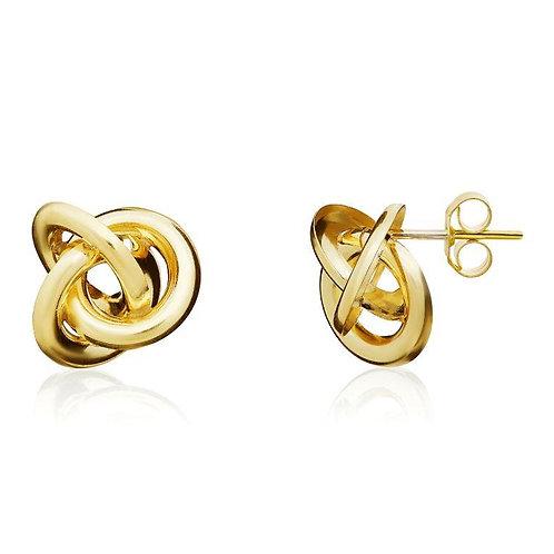 Gold Woolmark Knot stud earrings