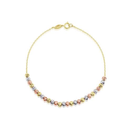 Three coloured Gold bracelet