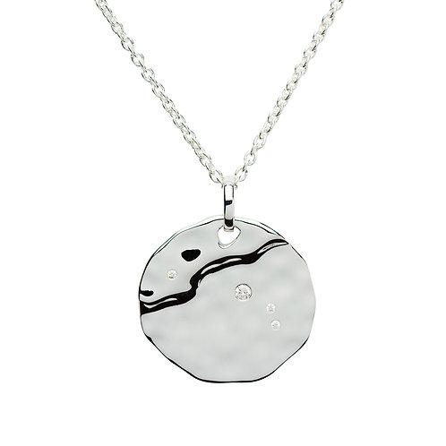 Aries Constellation silver pendant
