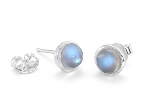 Moonstone silver stud earrings