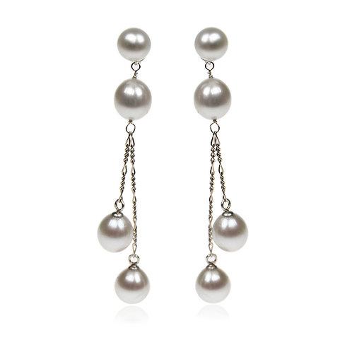 Joy of life double drop earrings