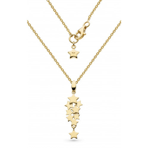 Stargazer Galaxy micro cluster gold plated silver necklace