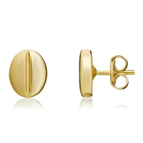 Gold Coffee Bean stud earrings