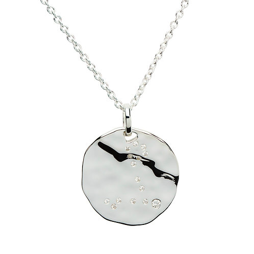 Pisces Constellation silver pendant