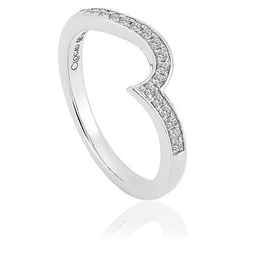 True Romance Clogau shaped Diamond wedding ring