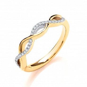 Entwine Diamond Yellow Gold ring
