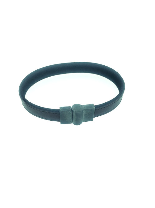 Brown Leather bracelet with magnetic clasp