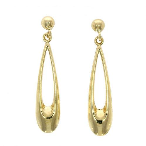 Long open drop earrings