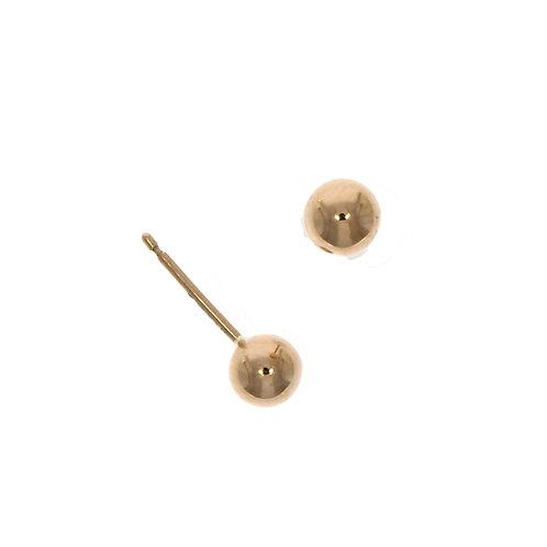 Rose gold 5mm stud earrings