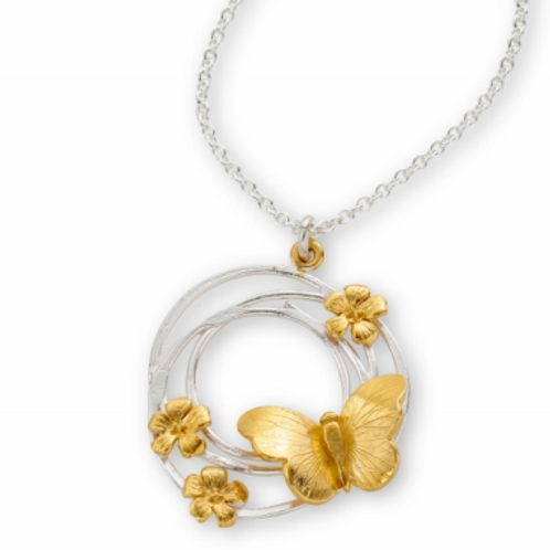Enchanted Butterfly Swirl pendant