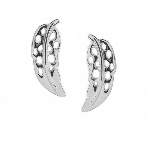 Plume lattice stud earrings