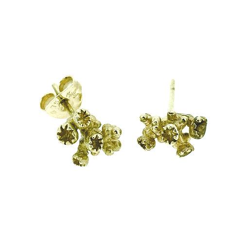 Gold Sculptural stud earrings