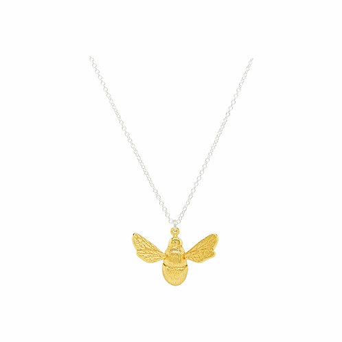 Bees Knees large gold plated bee necklace