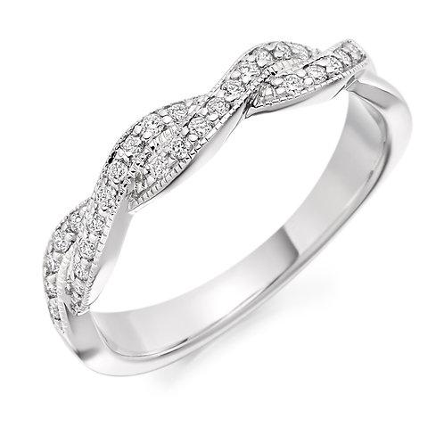 Woven Diamond half Eternity ring