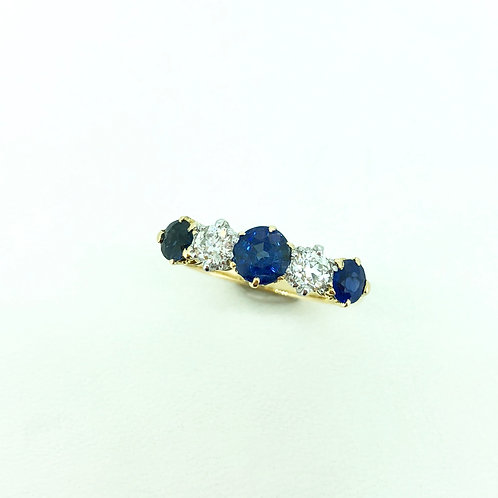 Vintage Sapphire and diamond ring 1905