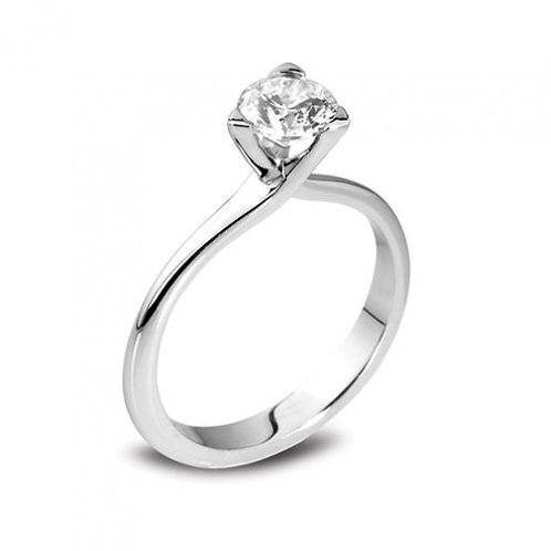 3 claw diamond solitaire ring