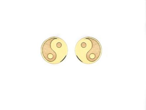 Yin-Yang gold stud earrings