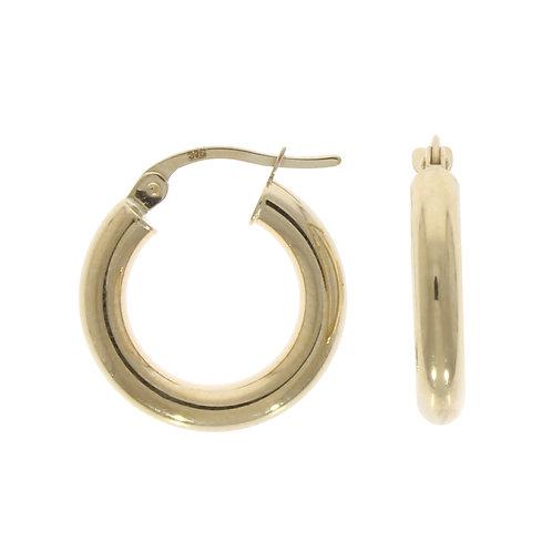 Polished plain small hoops